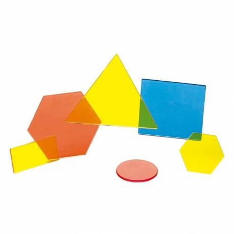 Bloques Lógicos transparentes - 60 piezas  Geometría