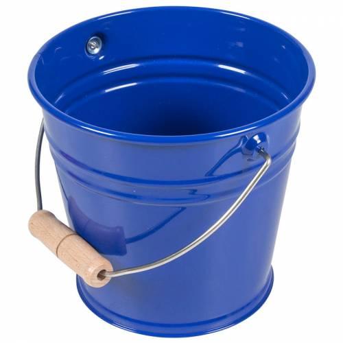 Cubo Metal Azul  Limpieza y orden