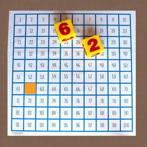 Lona del 100 gigante (suelo)  Contar del 0 al 100