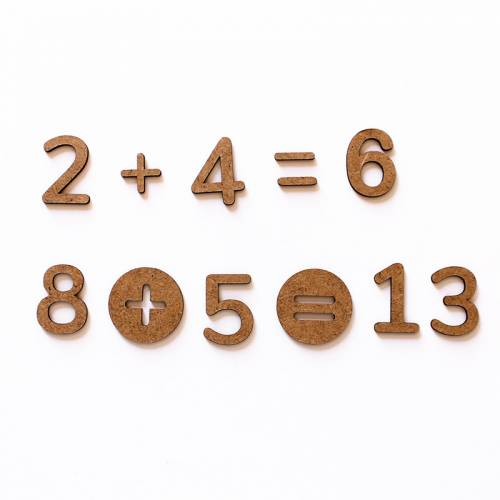 Pack de números y signos en DM  Sumar y Restar