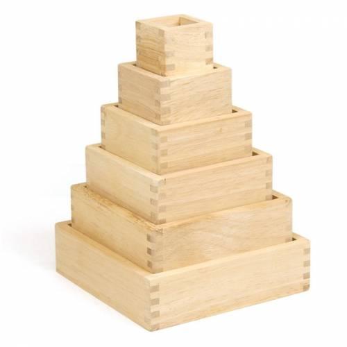 """6 Bloques de madera con """"lupa""""  Juguetes Sensoriales"""