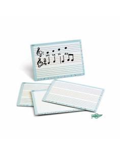 Pizarra blanca para educación musical