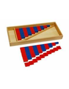 Barras rojas y azules mini y Nº
