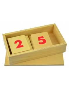 Números en madera para las barras rojas y azules