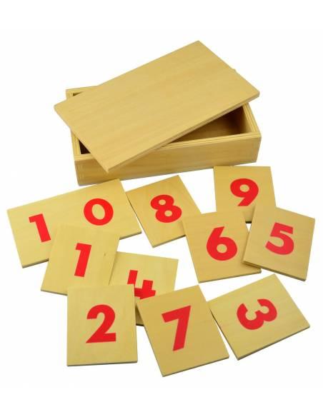 Números en madera para las barras rojas y azules  Contar del 0 al 100