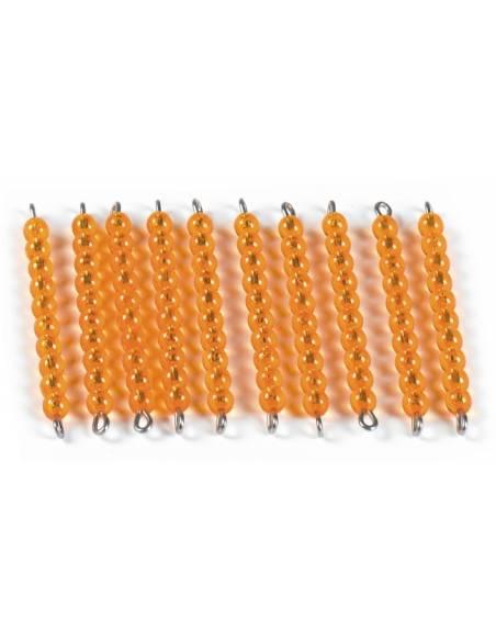 Barra de perlas dorada (unidad)  Sistema Decimal