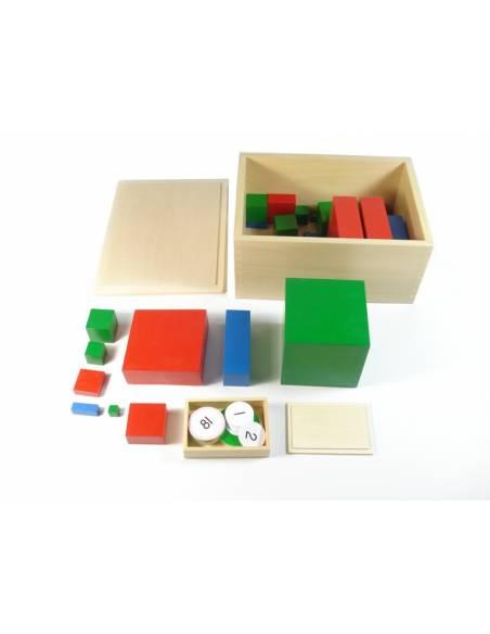 Material Multibase montessori + Tablero control  Geometría y Álgebra