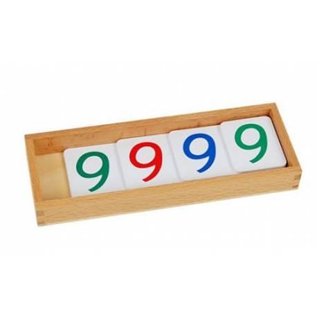 Números largos en papel