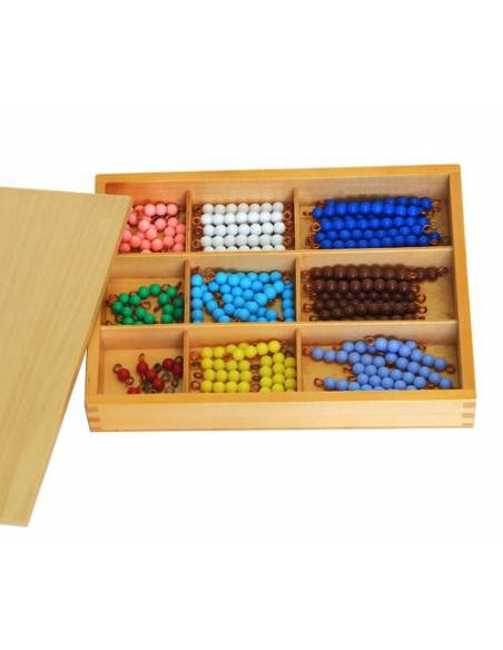 Caja de perlas de madera (10 uds)  Contar del 0 al 100