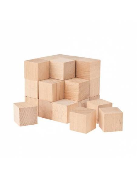 Cubos SOMA en madera de haya 30x30x30 mm
