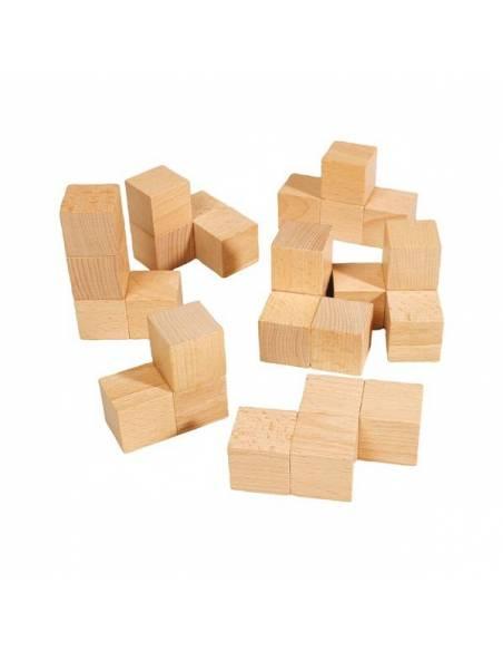 Cubos SOMA en madera de haya 30x30x30 mm  Educativos