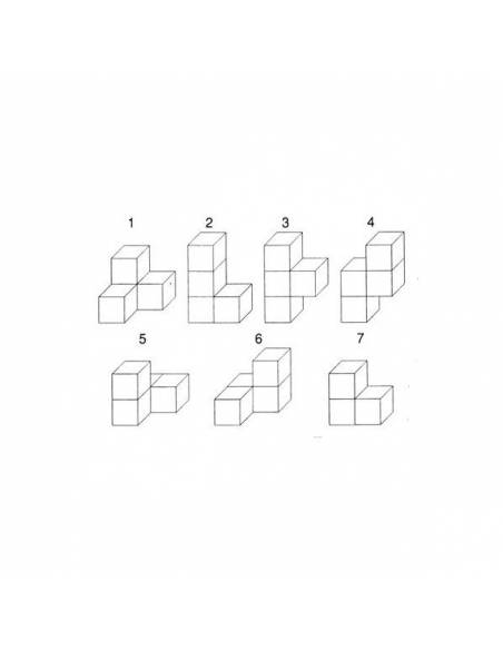 SOMA   Cubos en madera 30x30x30 mm  Geometría