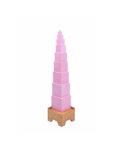 Stand de madera para la torre rosa
