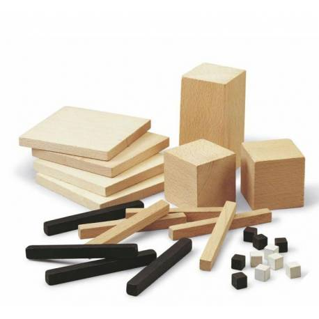Decímetro cúbico descomponible en madera  Base 10