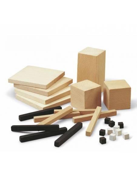 Decímetro cúbico descomponible en madera