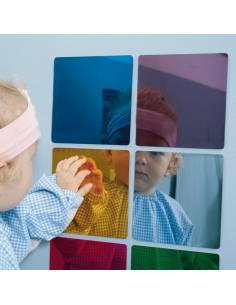 Pck de 6 espejos de colores