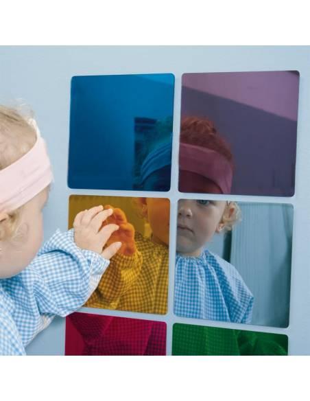 6 espejos de colores