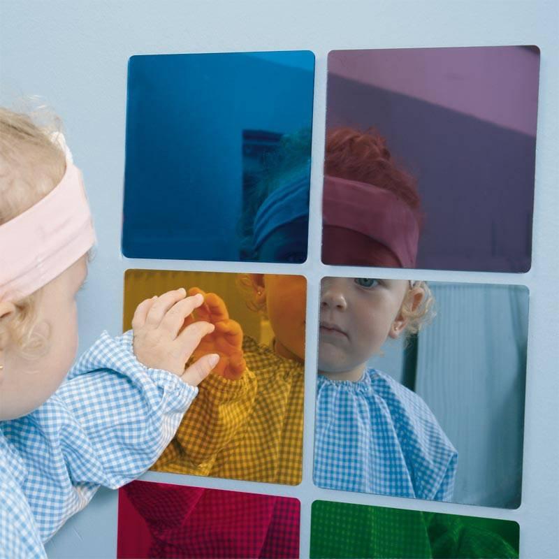 6 espejos de colores montessori para todos for Espejo montessori