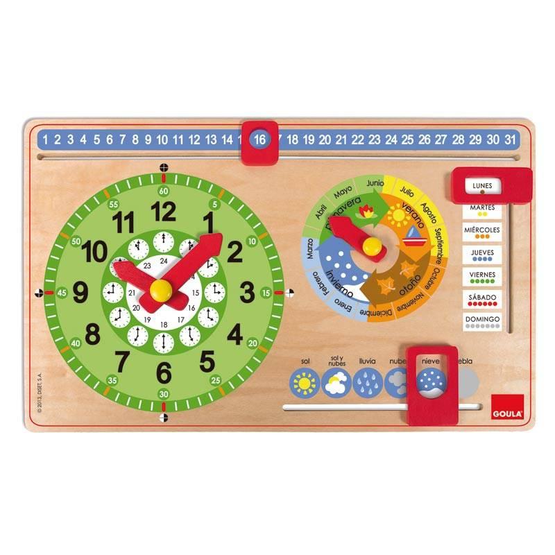 Calendario Montessori.Calendario En Madera