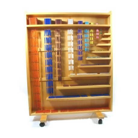 Gabinete completo de perlas montessori  Sistema Decimal