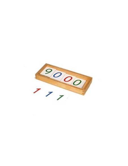 Números largos en papel 1-9000  Sistema Decimal