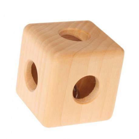 Cubo de madera con cascabel