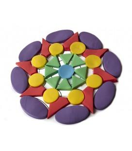Arena de colores - kinetic Mandala Shape