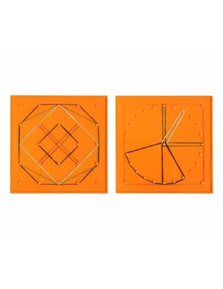 Geoplano círculo/cuadrado pequeño  Geometría
