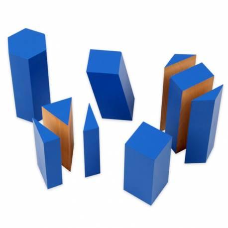 Bloques azules de volumen