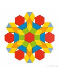 Caja de formas geométricas en madera