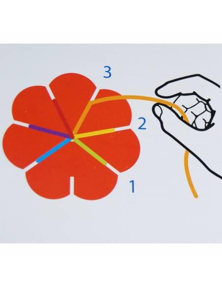Flor para hacer pulseras