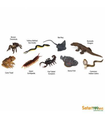 criaturas venenosas safari miniaturas