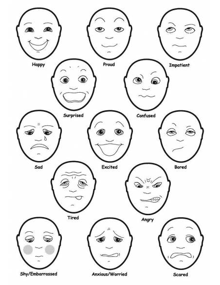 Caras Emociones  Mesa de Luz