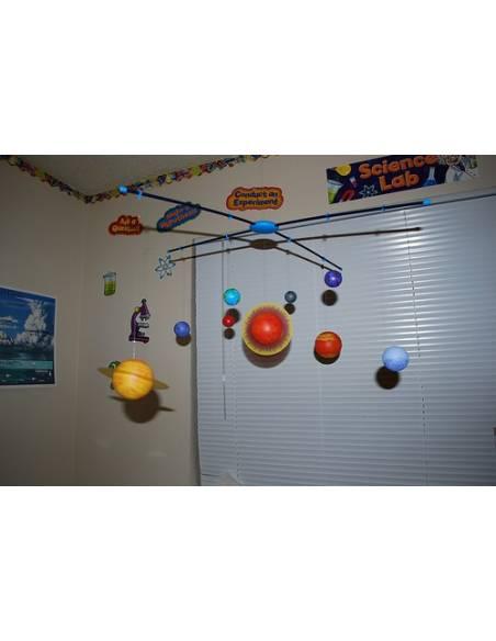 Monta tu móvil del Sistema Solar (grande)