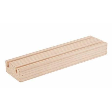 Listón de madera con dos ranuras