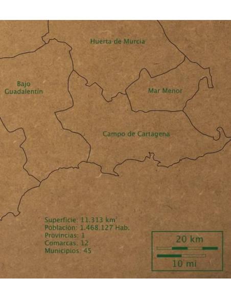 Mapa Puzzle de Murcia en Madera  Mapas y Globos Terráqueos
