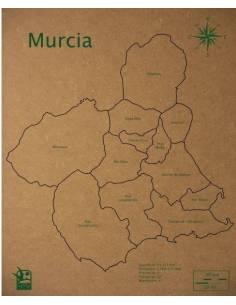 Mapa Puzzle de Murcia en Madera
