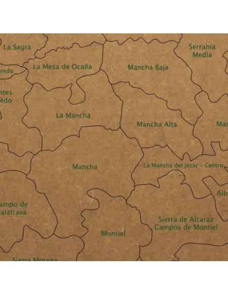 Mapa Puzzle de Castilla-La Mancha en Madera  Mapas y Globos Terráqueos