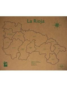 Mapa Puzzle de La Rioja en Madera