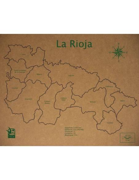Mapa Puzzle de La Rioja en Madera  Geografía