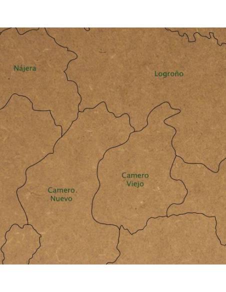 Mapa Puzzle de La Rioja en Madera  Mapas de España