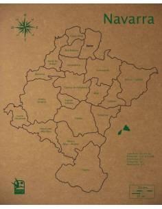 Mapa Puzzle de Navarra en Madera