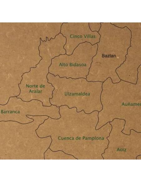 Mapa Puzzle de Navarra en Madera  Mapas y Globos Terráqueos