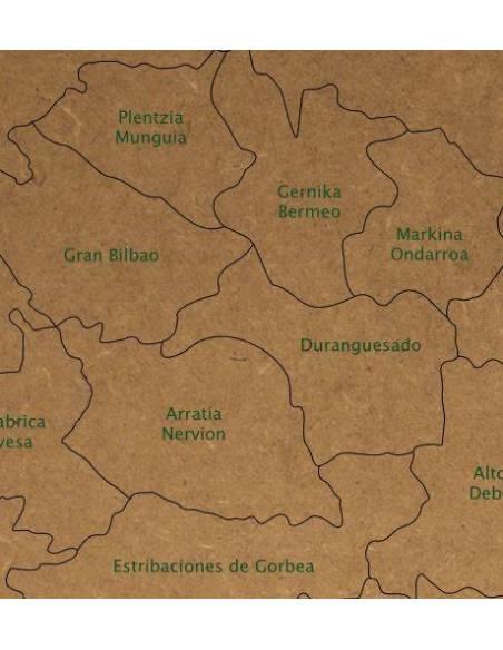 Mapa Puzzle de Euskadi en Madera  Mapas de España