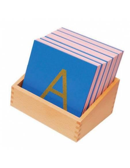 Letras de lija MAYÚSCULAS con caja