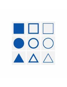 Tarjetas para la bandeja demostración Gabinete Geométrico