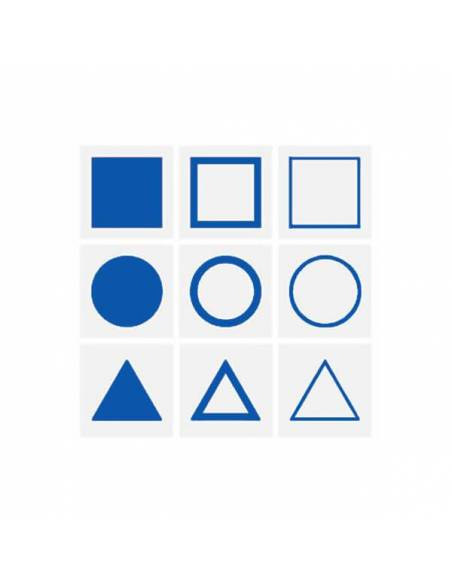 Tarjetas para la bandeja presentación Gabinete Geométrico  Sensorial