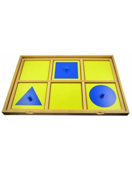 Bandeja presentación gabinete geométrico  Sensorial