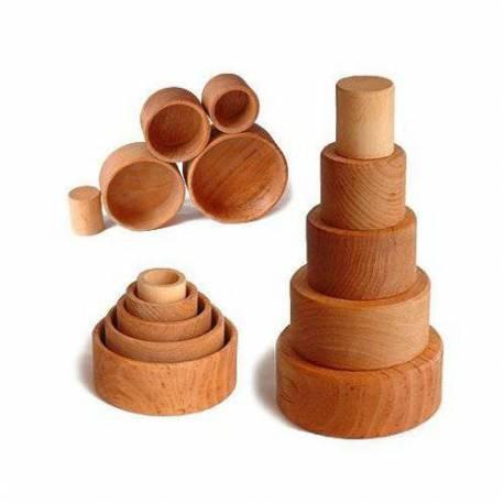 Bols en madera natural