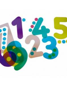Siluetas de números translúcidos